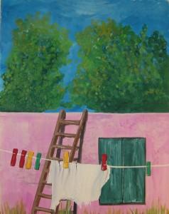 Tvätt - Tvättlina - Laundry - Bucato