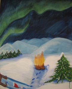 Jul - Natale con aurora boreale - Christmas with nordic light