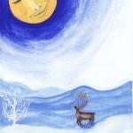 Jul -Natale - Christmas - La renna e la luna - The reindeer and the moon - Renen och månen