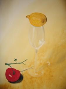 Tomat och citron - Pomodoro e limone - Tomato and lemon Still life - Vita morte - Stilleben
