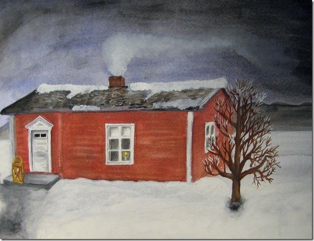 Pappas barndomshem i Snesudden - La casa natale di mio padre